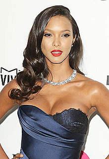 Supermodel Lais Ribeiro shows legs and cleavage