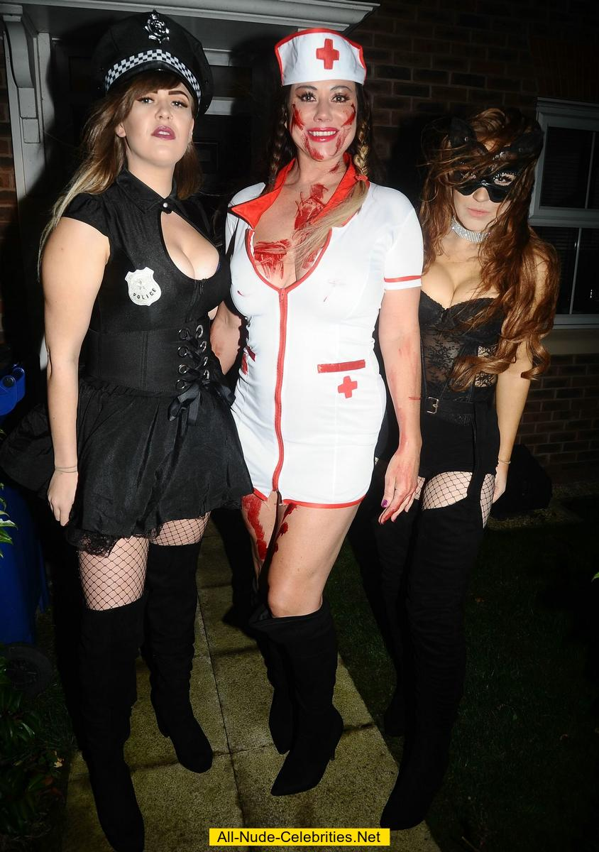 Halloween party girls naked