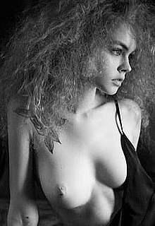 Anastasia Scheglova nude black-&-white images