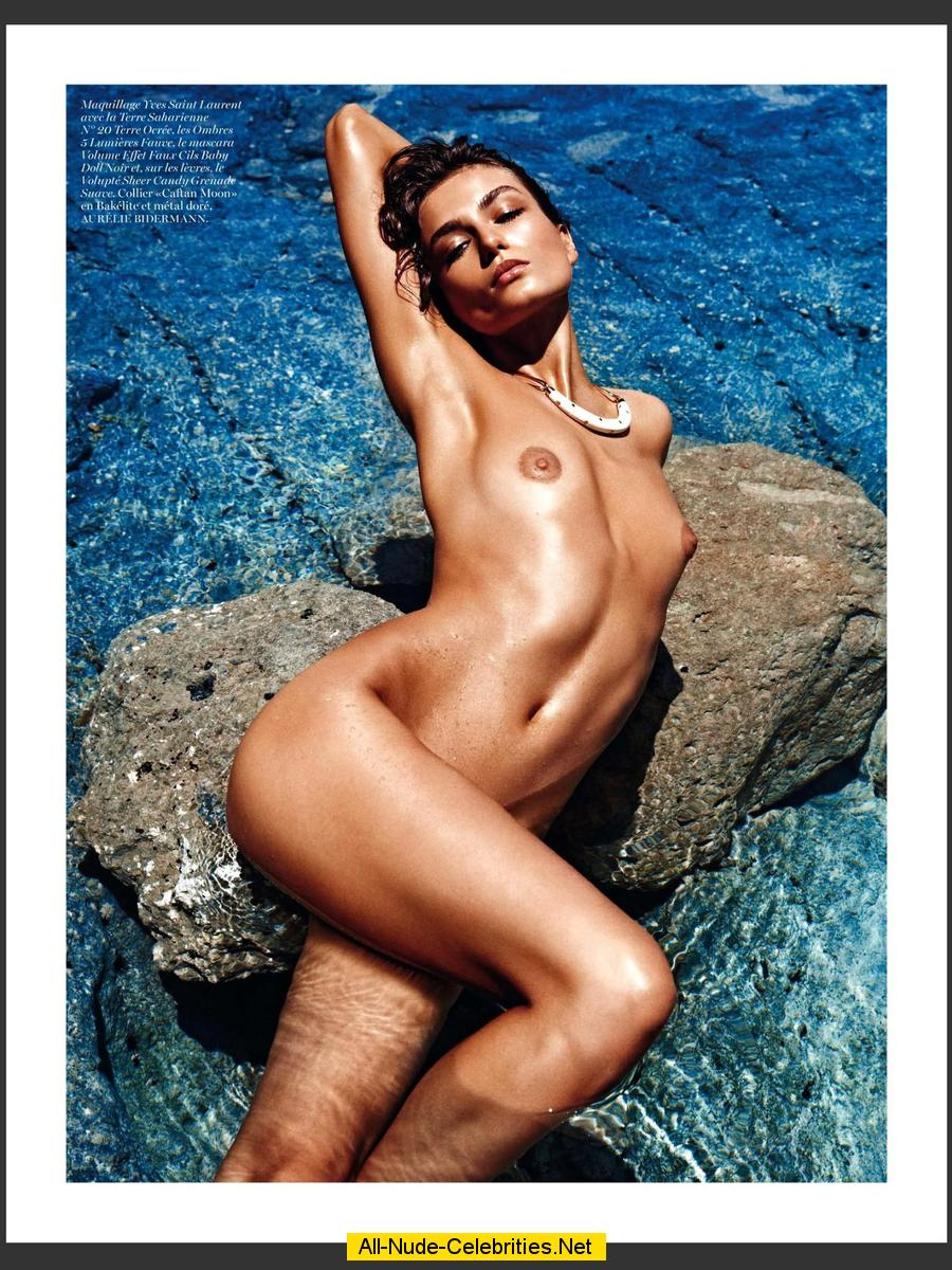 Andreea Diaconu shows tits and ass mag scans