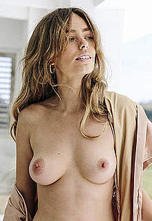 Anthea Page posing topless and nude at home