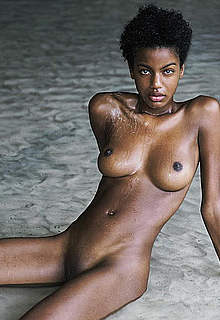 Ebonee Davis sexy, topless and fully nude
