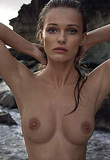 Edita Vilkeviciute topless in nature images