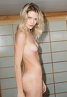 Eva Biechy posing topless and fully nude