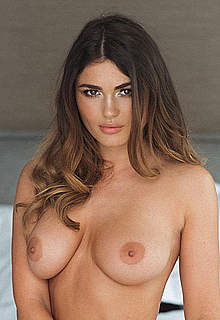 India Reynolds in black lingeries & topless