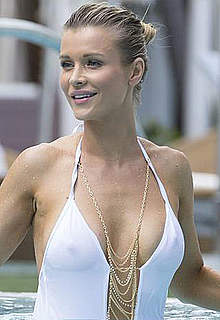 Joanna Krupa in see through white swimsuit