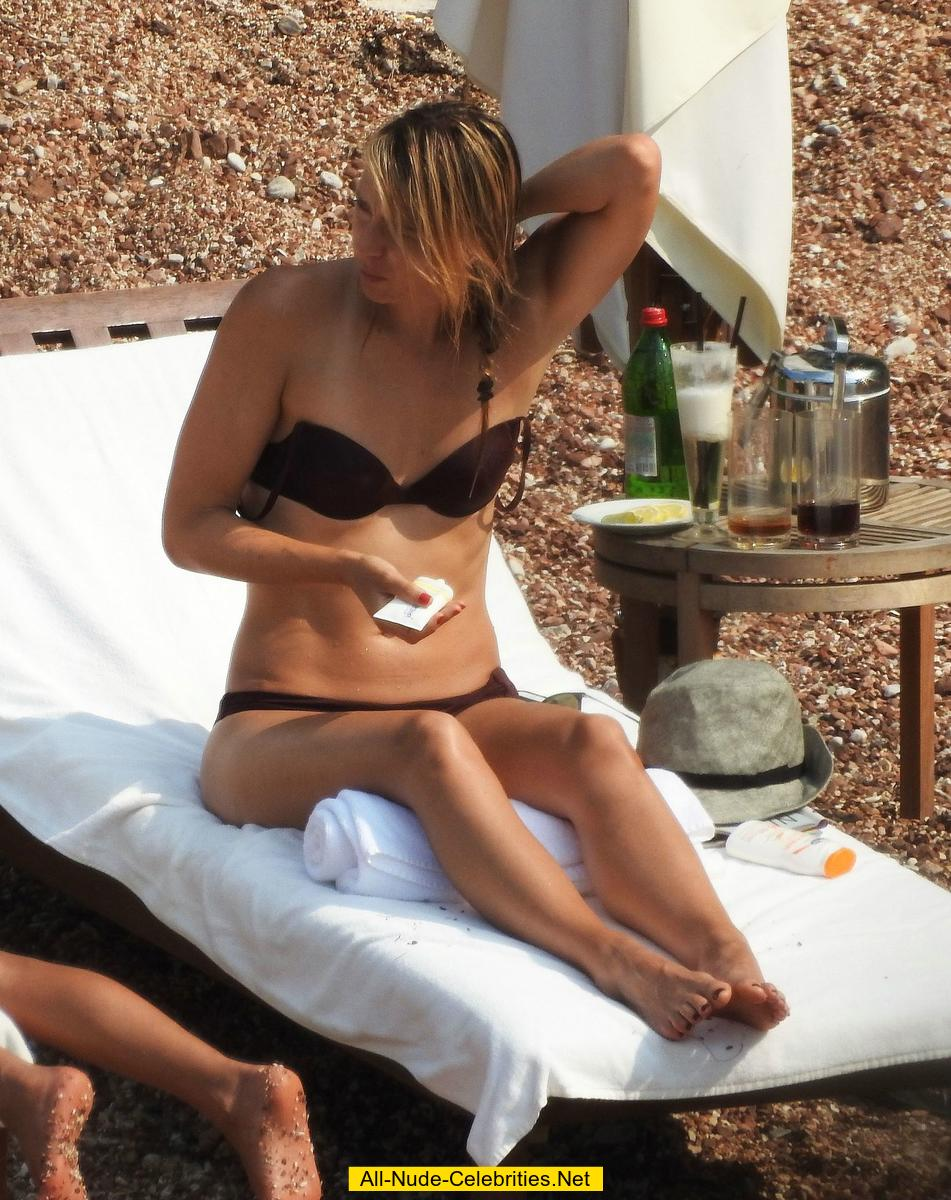 maria sharapova in bikini on a beach in montenegro