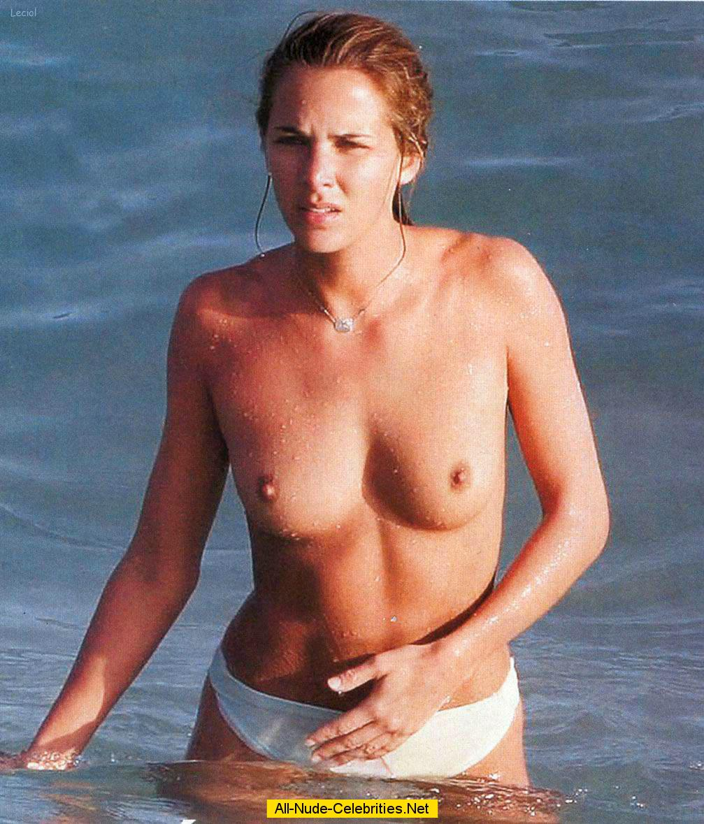french journalist and tv presenter melissa theuriau topless on a beach