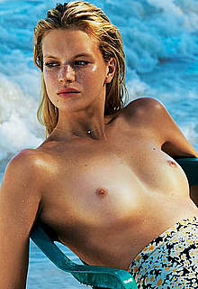 Nadine Leopold sexy, see through & topless