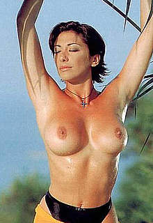 Sabrina Salerno topless posing scans from mags
